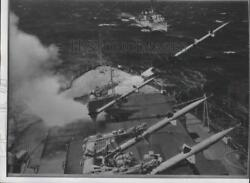 1955 Press Photo Terrier Guided Missiles - spa88400