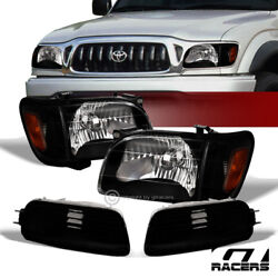 Sale For 2001-2004 Tacoma Black Headlights W/amber Corner And Signal Lamps Nb 6pc