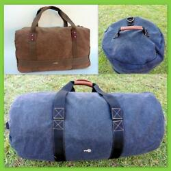 Heavy Duty Canvas Duffle Carry Bag Travel Luggage Duffel Tote Motor-Bike Large