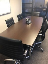 Modern Conference Table 6 Chairs Wood - 1 Year Of Usage