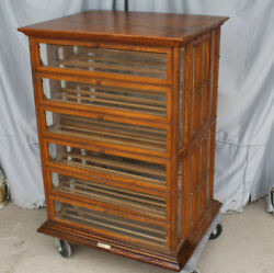 Antique Country Store Oak Country Store Ribbon Cabinet – A.N Russell