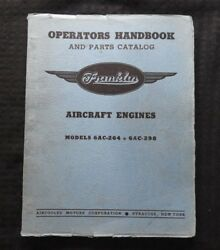 Franklin 6ac-264 6ac-298 Aircraft Engine Overhaul Parts Manual Bell 30 Xpq 14 15