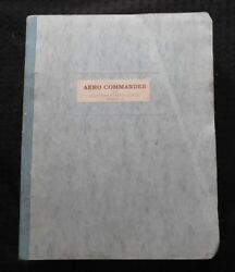 Genuine 1977-80 Rockwell 700 Commander Airplane Parts Catalog Manual Very Clean