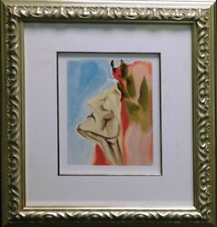 Salvador Dali The Divine Comedy Paradise Canto7 Woodblock Artwork Submit Offer