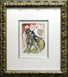 Salvador Dali The Divine Comedy Hell Canto 12 Woodblock Artwork Submit Offer