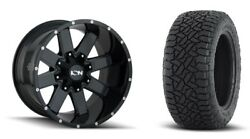 17x9 Ion 141 Gloss Black Wheel And At Tire Package 17x9 5x5.5 Dodge Ram 1500