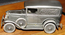Nostalgic Miniatures Ford Drink Coca Cola Pewter Made In Usa 1974