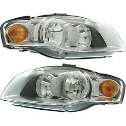 Capa Halogen Headlight Left And Right For Audi B7 Body 2005-2009 A4 Quattro A4