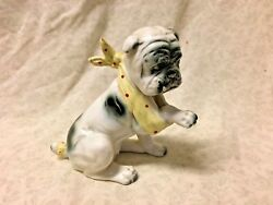 Vintage Cute Ceramic Boo Boo Injury Hurt English Bulldog Figurine Japan Vet Gift
