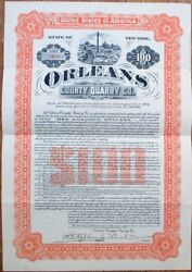 Mining 1906 1000 Gold Bond Certificate 'orleans County Quarry' - New York - Ny
