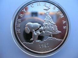1-oz.999 Silver Christmas Peanuts Gang Charlie Brown, Snoopy, Lucy, Coin+gold