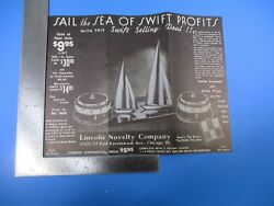 Vintage Lincoln Novelty Company Rotary Clocks Selling Deal Advertising S8058