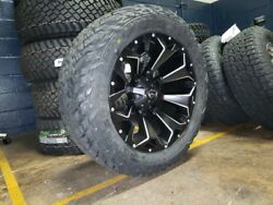22x10 Fuel D546 Assault 33 Mt Wheel And Tire Package 8x170 Ford F250 F350