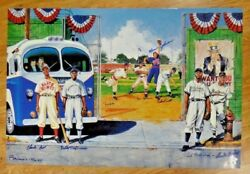 Negro League Baseball Lithograph By Ron Lewis Signed By 8 Artist Proof 15/70