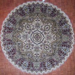 Authentic Wool 10' 0 X 10' 0 India Agra Round Rug Rnr-9040
