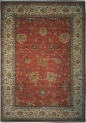 Authentic Wool 10and039 0 X 14and039 2 India Sultanabad Rug Rnr-9587