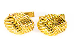 18k And Co Cuff Links Yellow Gold