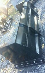 New 7and039 Skid Steer/tractor Loader Snow Box Pusher Plow Blade Bobcatholland 84