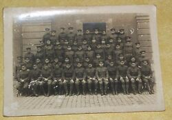 1917 Wwi Old Cabinet Photo 666 Battalion Army Training Picture Military Police