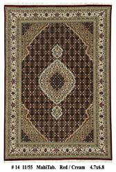 Hand-knotted Carpet 5x7 Mahi Black Wool-silk 55 X 80 In For Less Rug