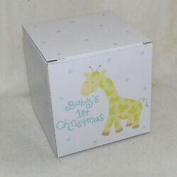 Coton Colors Baby's First Christmas Ornament - Boy Giraffe New