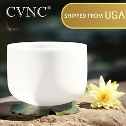 Cvnc 8 Inch B Crystal Singing Bowl Crown Chakra Frosted Quartz +rubber Mallet