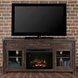 Raymond And Flanigan - Tv Stand With Electric Fireplace And Logs - Media Center