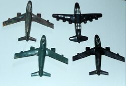 Lot 4 Early Plastic Toy Airplanes Usaf Military Planes Aviation B 52 Air Force G