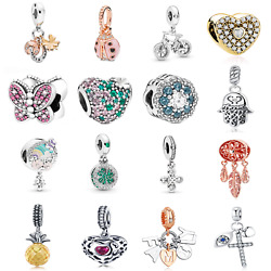 Authentic 925 Sterling Silver Family Love Beads Gift Pandora Charms Bracelet
