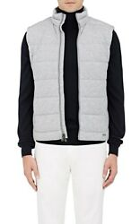 Purple Label Grey Quilted Jersey Vest Jacket New 695