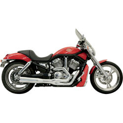 Bassani Chrome Road Rage II B1 2-into-1 Exhaust for 2002-05 Harley V-Rod VRSCAB