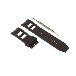 26mm Black Silicone Rubber Watch Strap Band Fits For Russian Diver Model W/ Tool