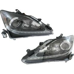 Headlight For 2012-2013 Lexus Is350 Pair Driver And Passenger Side