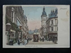 Newport Commercial Street Old Bush Hotel C1906 Hand Coloured Postcard By Wrench