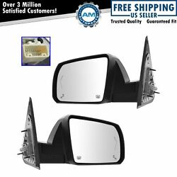 Power Fold Heat Signal Memory Chrome Mirror Left Right Pair For Toyota Sequoia