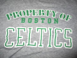 Vintage Sneakers Label - Property Of Boston Celtics Youth Lg T-shirt