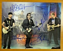 U2 Band Signed All Four Members 11x14 Photo