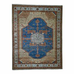 9and0392x11and0397 Pure Wool Vegetable Dyes Bakshaish Hand-knotted Oriental Rug R43638