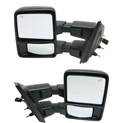 Tow Mirror Set For 2013 2014 Ford F-150 Left And Right Side Power Fold Heated