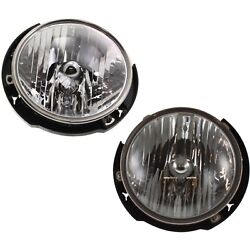 Headlight Set For 2007-2017 Jeep Wrangler Jk Left And Right With Bulb Capa 2pc