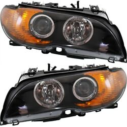 Headlight Set For 2003 2004 2005 2006 BMW 325Ci Left and Right With Bulb 2Pc