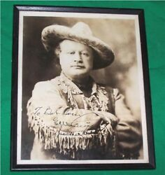 Old Pawnee Bill Wild West Cowboy Horse Man Signed Photo G.w. Lillie Indian Scout