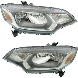Capa Headlight Driving Head Light Headlamp Driver And Passenger Side Lh Rh For Fit