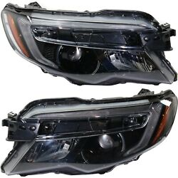 Headlight For 2016-2019 Honda Pilot Pair Lh And Rh With Auto On Off Capa