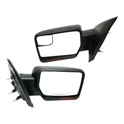 Mirror For 2011-2014 Ford F-150 Power Set Of 2 Lh And Rh Paintable