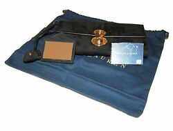 Polo Ralph Lauren Collection Womens Suede Leather Clutch Wallet Italy Black