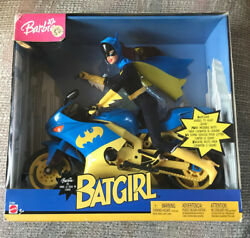 Vintage Barbie As Batgirl With Batcycle New In Box Mattel 2003