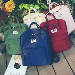 Womens Satchel Backpack Rucksack Canvas Schoolbag Student Travel Laptop Bag Gift $14.99