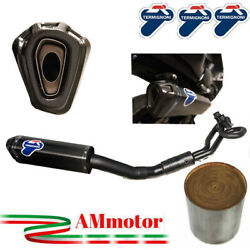 Termignoni Yamaha T-max 530 2018 18 Full Exhaust Scream Black Carbon Approved