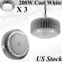 3X 200 Watt LED High Bay Light 24000LM Daylight Warehouse Factory Lighting Lamp